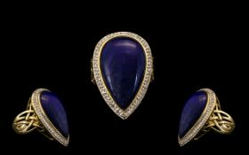 A Large & Impressive 9ct Gold Blue Stone