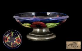 William Moorcroft Signed Fruit Bowl Rais
