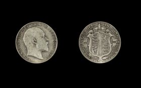 1909 Edward VIII Half Crown in fine cond