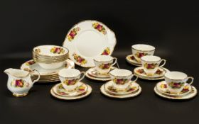 Part Teaset comprising 5 cups and 6 sauc