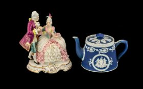 Dresden Porcelain Figure of a Courting C
