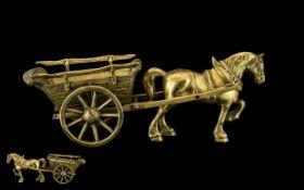 A Vintage Large & Impressive Solid Brass