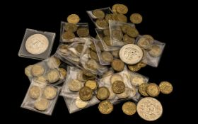Box of Misc Coins mostly old three pence