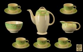 Art Deco Period 14 Piece Burleigh Tea Se