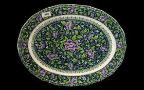"Large & Decorative Oval Platter 18"" x 14"