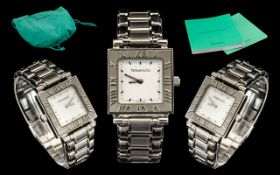 Tiffany & Co Atlas Stainless Steel Ladie