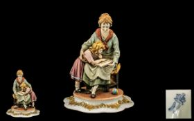 Capodimonte Porcelain Figure of a mother