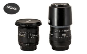 Two Camera Lenses To Include A Sigma Zoo