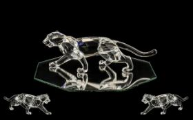 Swarovski - Superb Silver Crystal Figure