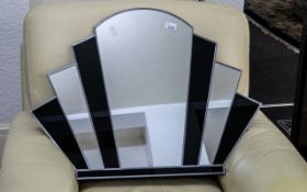 Art Deco Style Fan Shaped Mirror. Vinta