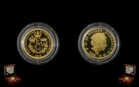 The Royal Mint 2018 £25 Quarter Ounce Go