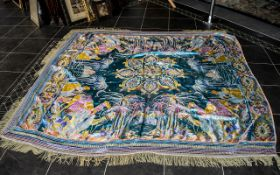 A Large Middle Eastern Silk Embroiled Fr