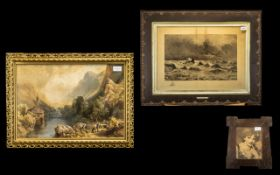 Three Misc Framed Prints. Comprising of