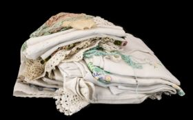 Collection of Vintage Linen including cr