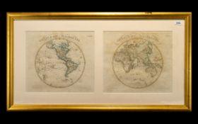 Antique Map Oestliche Halbkugel No. 7 We