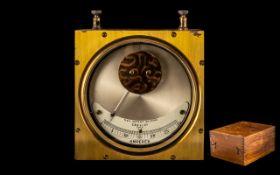 Rare Fine Antique Mahogany Cased Brass P