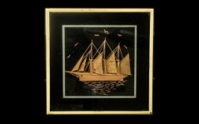 Small Picture of a Sailing Ship with ( 3