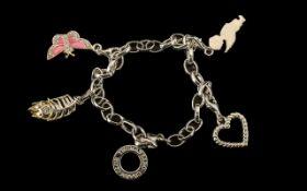 Thomas Sabo Silver Charm Bracelet, Genuine Thomas Sabo Bracelet,