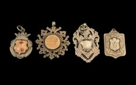 Collection of Silver Fobs, All Fully Hallmarked for Silver ( 4 ) In Total.