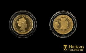 2020 George III Quarter Sovereign 200th Anniversary 2 grams In 22ct Gold,