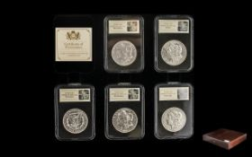 The Complete Morgan Dollar Mintmark Collection To Include 1890 Carson City Mint, 1921 San Francisco,
