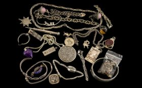 Excellent Collection of Sterling Silver Jewellery ( Est 25 Pieces ) All Marked for Silver and In