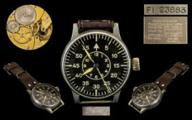 Lange and Sohne World War II ( BIUHR ) German Luftwaffe Military Pilots Watch. This Historic