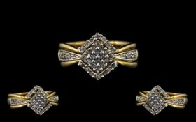 3 In 1 9ct Diamond Rings ( 3 ) Rings In Total to Make an Impressive Ring,