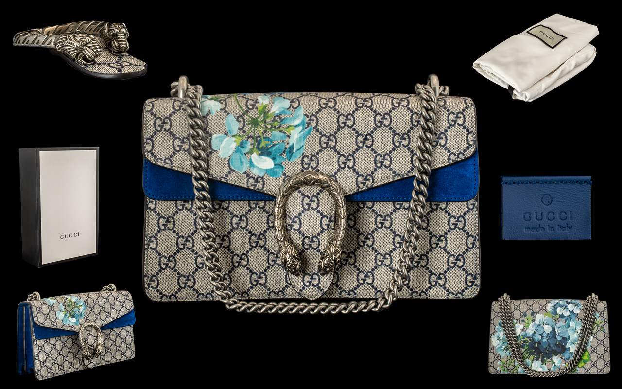 Lot 45 - Gucci CG Dionysus Supreme Mini Canvas Bag for Ladies, Made of Canvas,