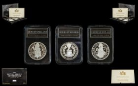 The Royal Mint The Royal House Of Windsor Silver Coin Set, Three 2017 .