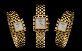 Raymond Weil Ladies Wristwatch Model Number 5855, 18K Gold Electroplated case And Bracelet Strap,