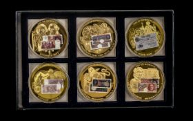 """Collection Of Six """"British Banknotes"""" Commemorative Coins/Strikes, Limited Edition,"""