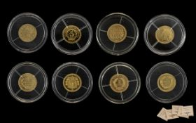 Collection Of Five 2016 Limited Edition Gold Coins To Include 1870 Liberty Head 3 Dollars,