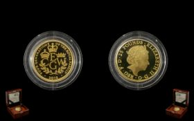 The Royal Mint 2018 £25 Quarter Ounce Gold Proof Coin Four Generations Of The Royal Family,