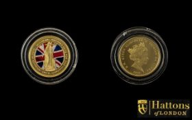 2020 Defence of Our Skies Colour Quarter Sovereign 2 grams In 22ct Gold,