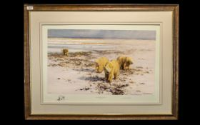 David Shepherd OBE Pencil Signed Limited Edition Print No. 832/1500. Titled 'Lone Wanderers of the