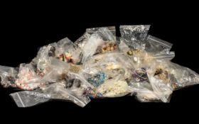 Huge Collection of Costume Jewellery comprising beads, shell necklaces, pendants, chains, all