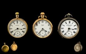 Silver Open Faced Pocket Watch + 2 Others,