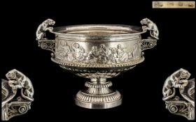 Antique Period Elkington & Company Superb Quality Large and Impressive Sterling Silver