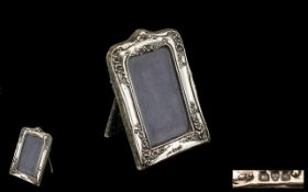 Edwardian Silver Photo Frame, Velvet Frame, Velvet Backers, Fully Marked for Silver.