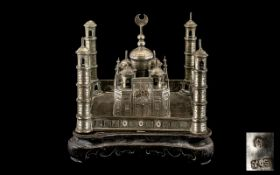Chinese Antique Silver Model of The Taj-Ma-Hal India,