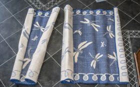 2 x Terrace Dragonfly Blue Outdoor Rugs. 150 cm by 230 cm.