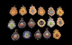 Collection of Enamel Medals, Mainly Dating back to the 1940's ( 17 ) Medals In Total.