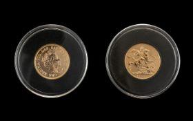 Royal Mint United Kingdom Elizabeth II 22ct Gold Full Sovereign - Date 2017.