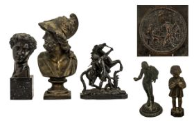 A Collection of Anitque Grand Tour Figures comprising 1.