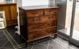 19th Century Mahogany Chest of Drawers two short over three graduating long drawers,