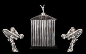 Rolls Royce Interest - Large Rolls Royce Table Top Display, chrome radiator with Spirit of Ecstasy,