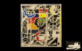 Abstract Watercolour signed K J Kobenhaum 75, Scandinavian listed artist; painting mounted,