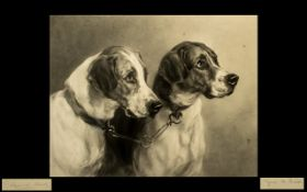 Heywood Hardy Pencil Signed Print with Blind Stamp WBE,