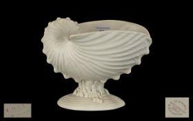 Wedgwood Nautilus Shell Centrepiece, a table vase bearing impressed marks, 7.